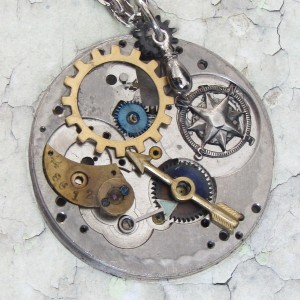 original steampunk necklace by clockworkzero
