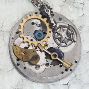 original steampunk necklace by clockworkzero